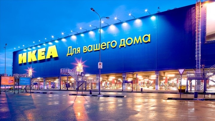 Ikea in Russia needs to translate marketing content often. Image of Ikea in Moscow