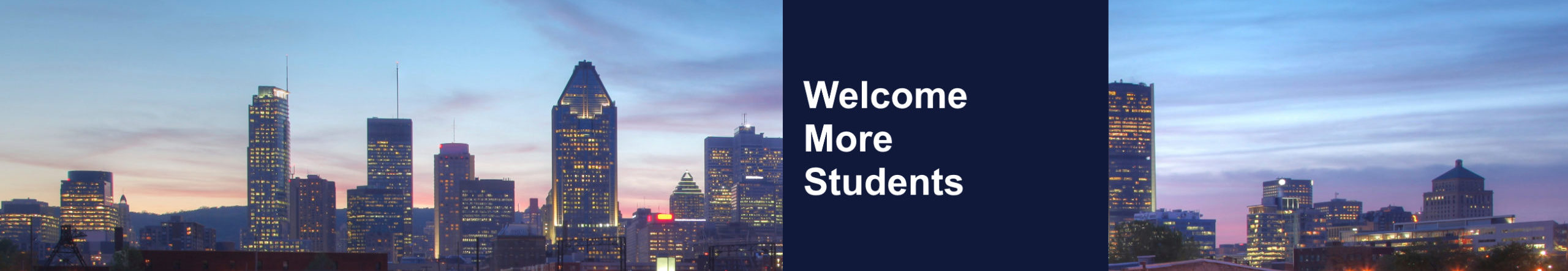 Welcome more students
